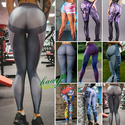 Women Sport Trouser Yoga Mesh Workout Gym Leggings Fitness Athletic Pant Clothes