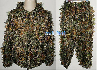 3D Jungle Leafy Fast Dry Realtree Camo Ghillie Suit Jacket and Trousers