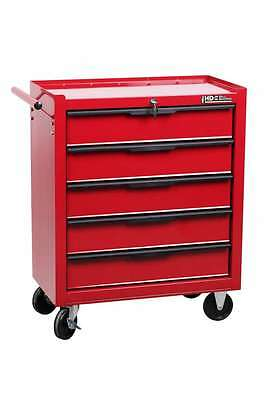 Hilka Tool Trolley 5 Drawer New Red Mobile Tools Storage Chest Box Roll Cabinet