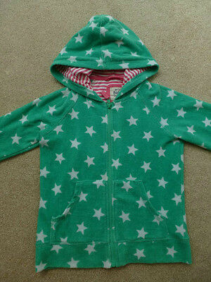 BODEN Green Towelling Zip Up Hoody ~ 7-8yrs Hooded Top Jacket Next Holiday