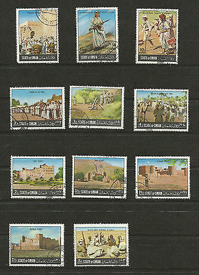 State of OMAN 11 Stamps CTO