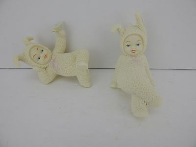 Dept 56 Snowbunnies Stop & Smell the Roses #26320 Good Condition Rare!