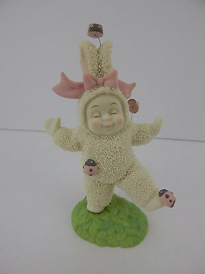 Dept 56 Snowbunnies You Tickle Me #26440 Retired How Sweet with Ladybugs!