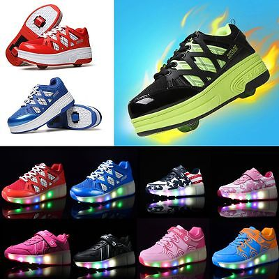 Kids Roller Skating Auto Wheel Shoes Youth Boys Girls Gift Unisex Adult Sneakers