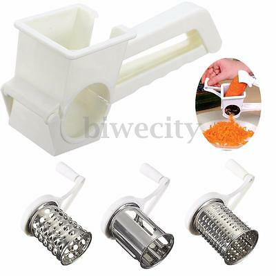 1PC White Multifunctional Rotary Cheese Chocolate Grater Planing Kitchen Tools