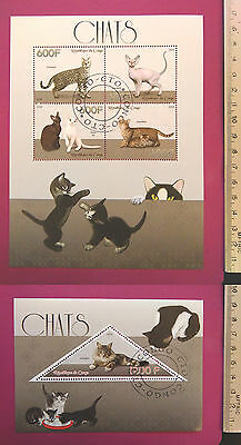 Animal PETs CATs 2015 CONGO perf. 4 value Sheetlet CTO Excellent NH UKseller