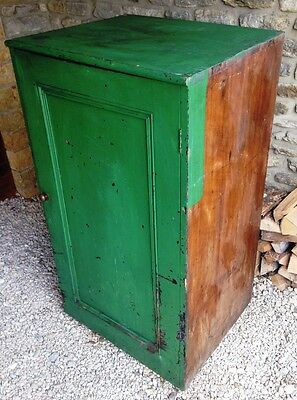 Antique Victorian Rustic Painted Pine Housekeepers Cupboard - Needs Tlc    894