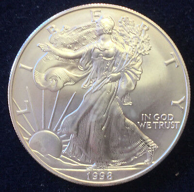 1 Silberunze One Dollar 1998 Liberty Fine Silver 1 OZ Feinsilber 999/-