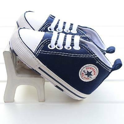 Baby Boys Girls Blue Canvas Shoes Converse