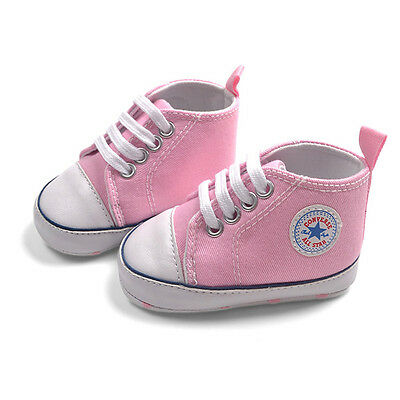 Baby Girls Pink Canvas Shoes Converse