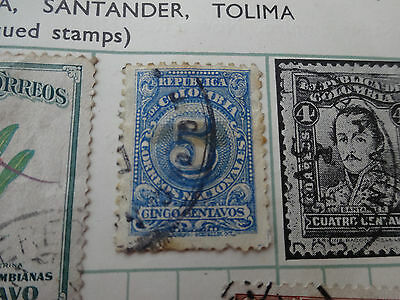 Stamps:  Colombia   Vintage