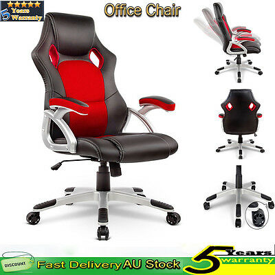 Swivel Racing Office Chair Seat Executive Computer Gaming PU Leather Furniture