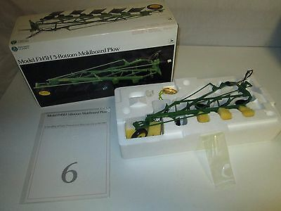 Ertl 1:16 John Deere Model F145H 5 Bottom Moldboard Plow Precision Series #6
