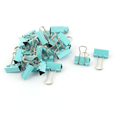 School Office Metal Test Paper File Organizer Binder Clips Green 28 Pcs