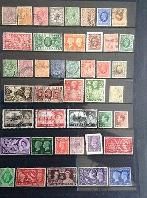 Large  Great Britain Collection Many modern And High Value 10 Pages!!