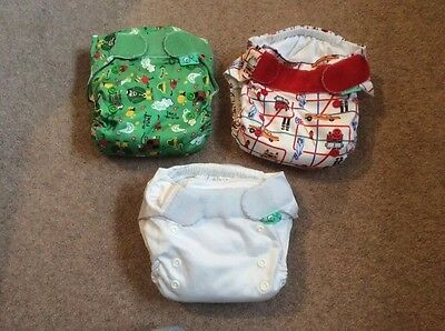 3x Tots Bots Version 3 Easyfit, all in one reusable nappy - one size
