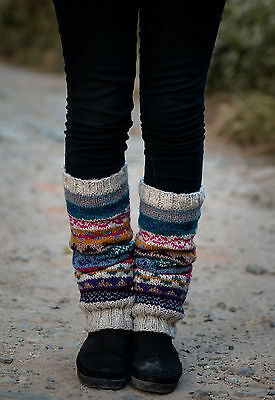 White Pink Multicolor Winter Sherpa Legwarmers