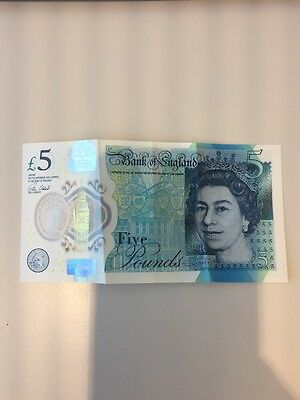 AA60 new rare 2016 five pound note £5