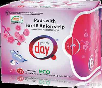 1 pack of Gentle Day Sanitary Napkins Pads Far - IR Anion  Day Time Use
