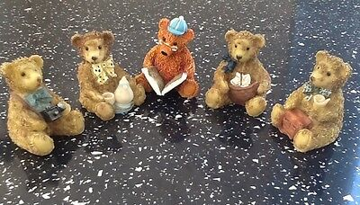 Teddy Bear Figurines ( group of Five )