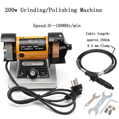 200W 10000RPM Grinding/Polishing Machine Flexible Axle Milling Engraving Grinder