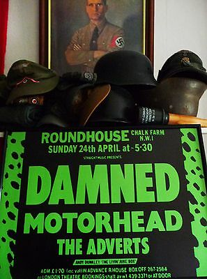 the DAMnED mOTorHead thE ADverTs  GiG  1977 POSTErS sEDITIONAries SEX PIStols