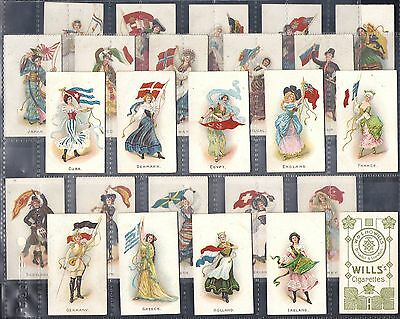 Wills Other Overseas Set- Flag Girls Of All Nations