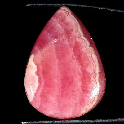 24.30Cts. 100% NATURAL DESIGNER RHODOCHROSITE PEAR CABOCHON UNTREATED GEMSTONE