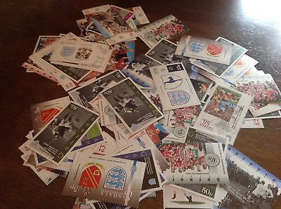 80 unmounted mint FA Cup Football Stamps GB Locals spurs aresenal liverpool +