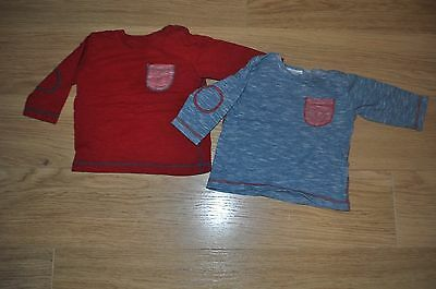 Set of 2, 6-9 Months long sleeved t-shirts from NEXT red/blue