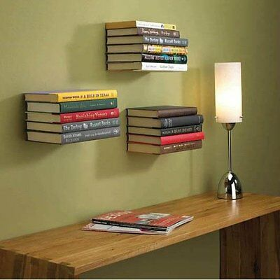 Creative Invisible Bookshelf Stainless Steel Wall Floating Bookcase Shelf