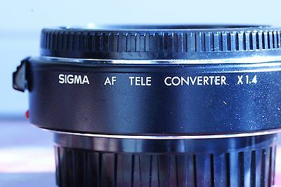 Sigma 1.4 teleconverter Sony A series fit AF