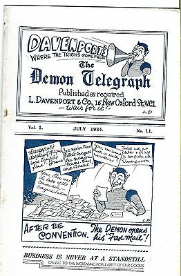 Davenport's The Demon Telegraph. July 1934. Magic Magazine.