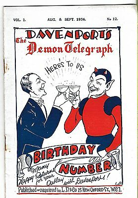 Davenport's The Demon Telegraph. Aug/Sept. 1934. Magic Magazine.