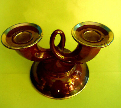 CARLTON WARE / Rouge Royale / Double Candle Holder