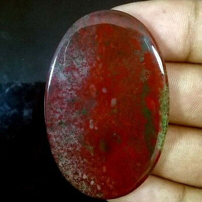 63.95 Cts. 100% NATURAL BLOOD STONE OVAL CABOCHON GEMSTONE BDS-01