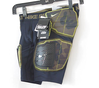 NIKE Pro Combat Hyperstrong Hard Plate Black Camo Football Girdle-Boys Size S