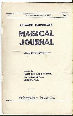 Edward Bagshawe's Magical Journal. Oct/Nov. 1927. Magic Magazine.