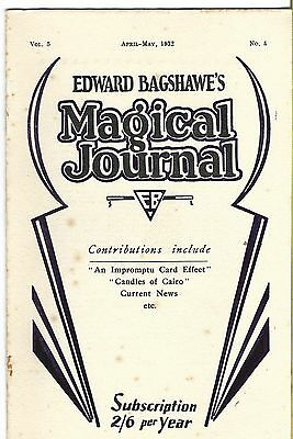 Edward Bagshawe's Magical Journal. April/May 1932. Magic Magazine.