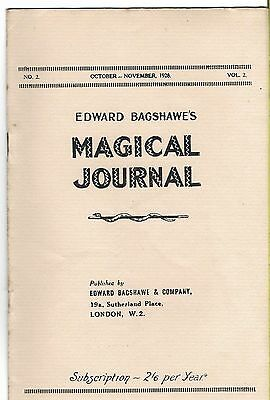 Edward Bagshawe's Magical Journal. Oct/Nov. 1928. Magic Magazine.