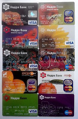 VISA Credit Card Collection NADRABANK - 10 in 1