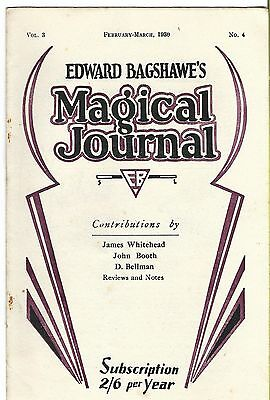 Edward Bagshawe's Magical Journal. Feb/March 1930. Magic Magazine.