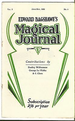 Edward Bagshawe's Magical Journal. April/May 1930. Magic Magazine.