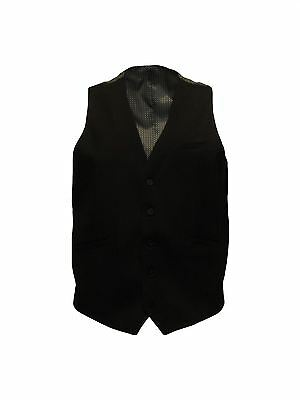 Mens Formal Plain Black Waist Coat (Felix) in Size 36 to 46 Inches