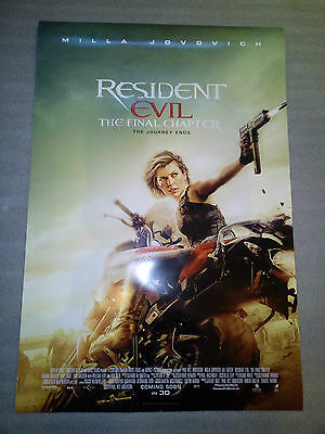 "Original movie ""Resident Evil: The Final Chapter"" poster Milla Jovovich 27x40"