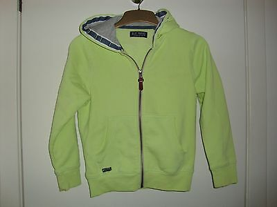 Girls Next hooded cotton/polyester anorak, 8 years, bright green,fleece lined,