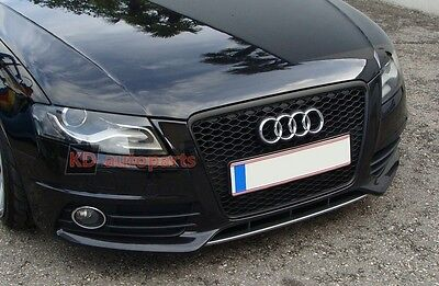 Audi A4 S4 B8 08-11 BLACK HONEYCOMB GRILLE GRILL RS LOOK HIGH QUALITY BRAND NEW