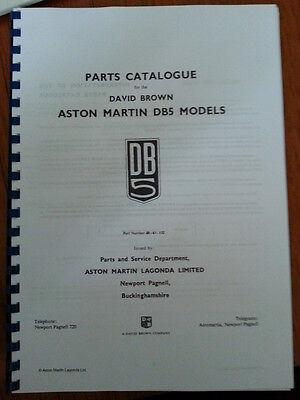 Aston Martin Db5 Parts Manual Reprinted A4 Comb Bound 249 Pages