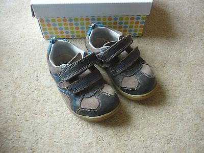 Brown Leather and suede Clarks Baby boys shoes 6 F (EUR 22.5)
