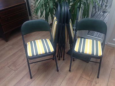 6 Re-covered Internal/external Rainproof Foldaway Chairs  American made